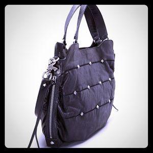 Botkier Maddie studded black leather bag